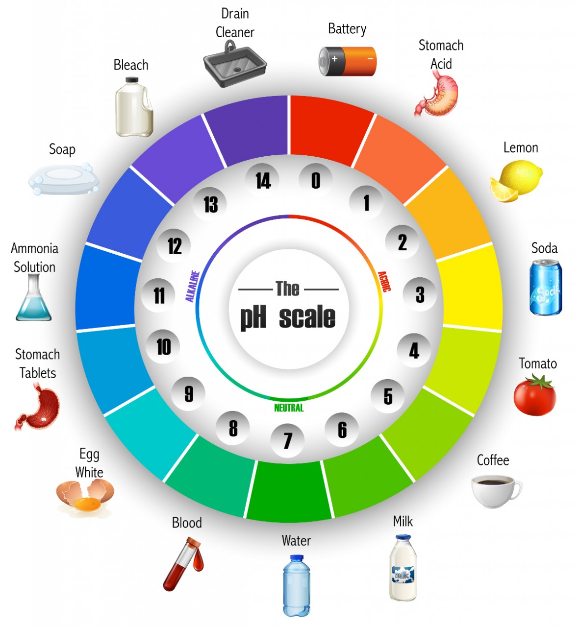 universal indicator colour wheel
