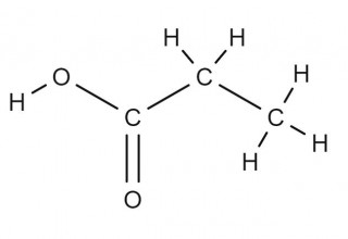 propanoic acid displayed formula